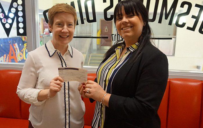 Pioneer Foodstore | Carlisle Youth Zone | funds handover
