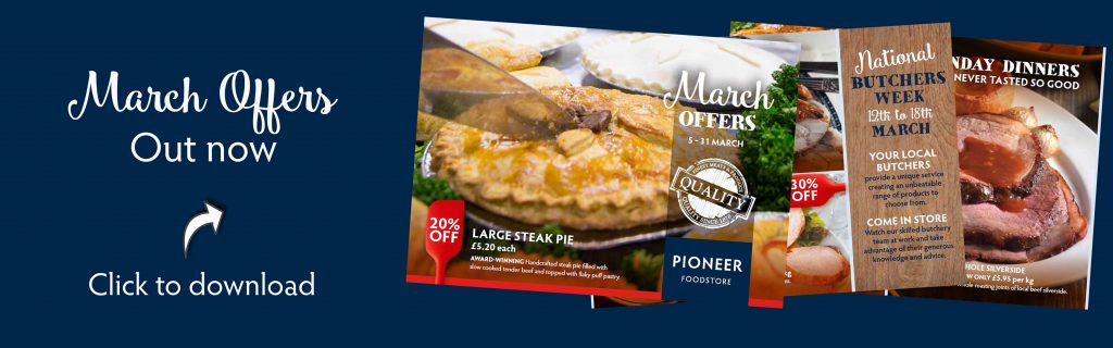 Pioneer Foodstore | March offers banner