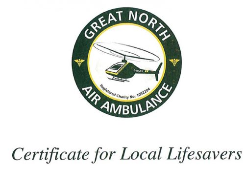 Lifesaving fundraising for Great North Air Ambulance
