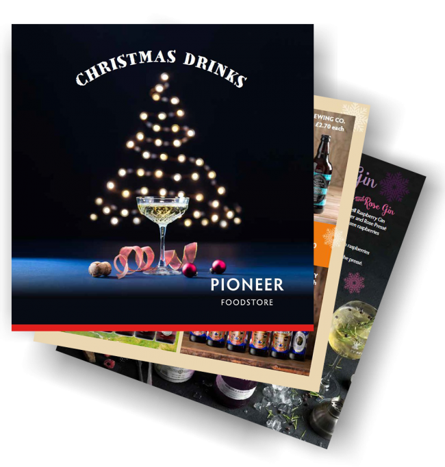 Pioneer Foodstore | Christmas Drinks brochure 2018