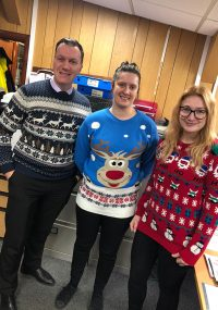 Pioneer Foodstore | Christmas Jumper Day 2018 | Eden Valley Hospice | Carlisle, cumbria
