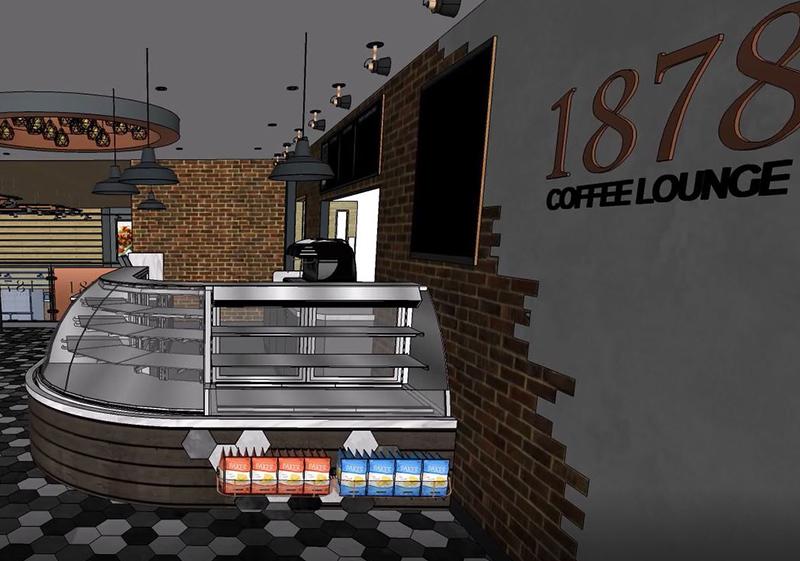 Pioneer Foodstore | Rosehill 1878 coffee lounge counter | Carlisle, Cumbria