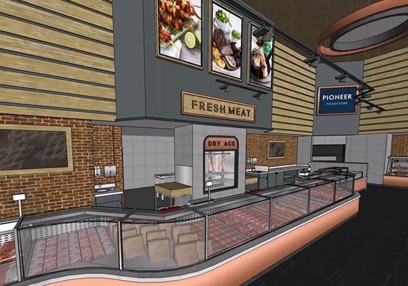 Pioneer Foodstore | Rosehill store meat counter | Carlisle, Cumbria