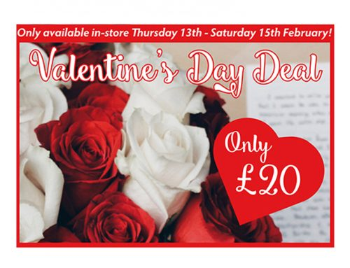 Valentine's Day offer – for three days only!