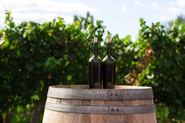 French Wine on a barrel